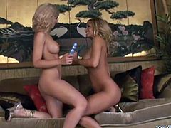 Big Titted Lesbians In High Heels and Miniskirt get Passionate with each other Fingering and inserting sex Toys In their Pussies