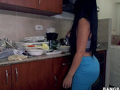 Maid Casandra is a hot MILF from Colombia. Hot bodied sexy with jet black hair, huge bubble butt and massive tits is dangerously sexy. This busty woman will make you cream your pants.