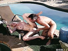 Perfect bodied cutie shows sex tricks to Keiran Lee with desire