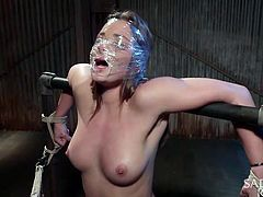Dani Daniels loves to have sex hard and dirty, and she is always up for some games. Her boyfriend ties her up and makes sure she can't move a finger. Watch this slut gets what she deserves, as she is fucked from all directions.