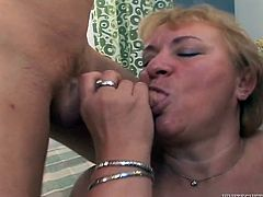 Chubby grannie loves to take part in crazy gangbang scenes