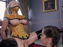 christie and kasey torture each other to pleasure ramon
