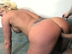 Fond of mature women who know how to have fun? Don't hesitate and join the fun. Krysta's a hot lady with small tits, who loves to play dirty with all available dicks she can find. The blonde naked bitch rides her partner's cock and seems very talented at performing a dream blowjob. See her banged from behind.