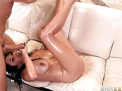 Keiran Lee has a nice time fucking Latin Missy Martinez in the chocolate speedway after oral job