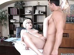 Billy Glide is horny and cant wait any longer to drill Nora Skyy