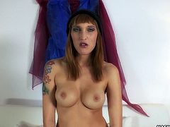 The lovely Paula Rowe shakes her ass while getting fucked from behind. All of this while being filmed POV style.