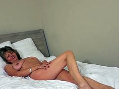 OldNanny Impressive mature and her daughter is having funtime round toy