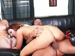 Alex Tanner and Dani Jensen take hard dick in threesome