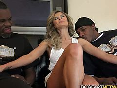 Chloe Chaos Gets Woken up And Fucked By Two Horny Black Guys