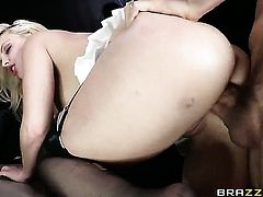 Erik Everhard fucks extremely horny Britney Ambers bottom in every sex positon after cock sucking