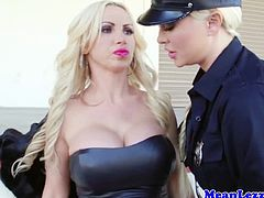 Busty lesbian police station sex with officer Summer Brielle taking in hooker Nikki Benz. Nikki Benz gets her pussy strapon fucked by Summer Brielle, Watch these busty blonde babes fucking each other's pussies. Enjoy!