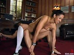 Ardent brunette with small tit Isis Love rides Kurt Lockwood's monster cock
