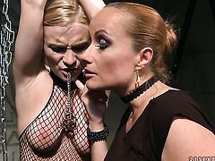 Blonde Katy Parker with big breasts makes her lesbian dreams a come true with Steffie