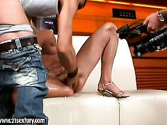 Blonde Carla Cox finds herself getting humped by horny man over and over again
