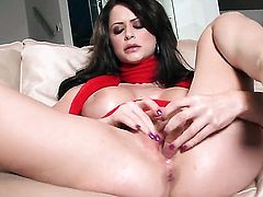 Emily Addison fingering her love tunnel