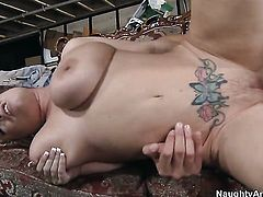 Rachel Love with massive knockers feels like she is Rocco Reeds fuck toy