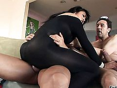 Mika Tan asks Steve Holmes to fuck her sweet mouth