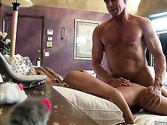 Peter North is ready to make pretty Tasha Reigns every anal dream come true