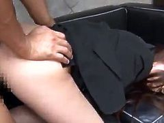 Brilliant Chinese Office nymph has A Mouthful After Rough porno