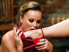 Silvia Saint is on fire in lesbian action with lovely Cindy
