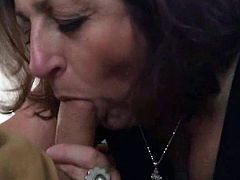 Horny Granny Sucking a Mean Dick