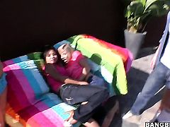 Lana Violet with juicy bottom is in lesbian sexual ecstasy with Ashli Orion