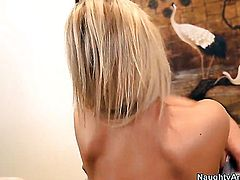Danny Wylde stuffs his love wand in hot bodied Abbey Brookss wet spot
