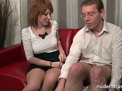 Casting couch of an amateur french couple