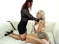 If you are an adept of girl on girl action, you definitely shouldn't miss the next inciting scenes, where two horny ladies get easily undressed. Slutty Savannah gets whipped, while closed in a cage outside. See her later revealing those big fantastic tits and kissing dominant Chanel with passion...