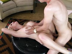 Alana Evans is one oral slut who gives Danny Mountains beefy schlong a try