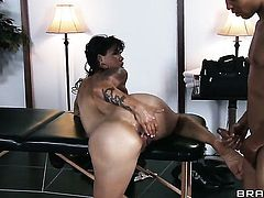 Wrexxx Kidneys is horny and cant wait no more to pound Asian Dana Vespoli in her bum hole