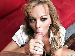 Amber Lynn Bach with huge hooters eating James Deens beefy sturdy schlong like theres no tomorrow