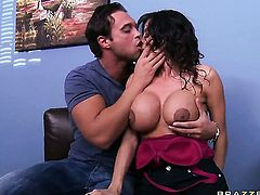 Rocco Reed loves always wet warm love hole of Ariella Ferrera with juicy boobs