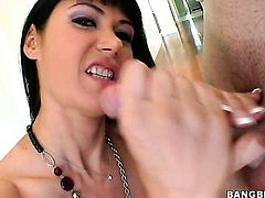 Eva Karera getting her hands used by horny hard-dicked man