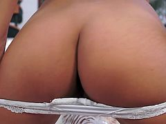 Visit official Club Sandy's HomepageCute Christy Charming seems more than needy to smack her fine ass in a rough anal masturbation along her new toy