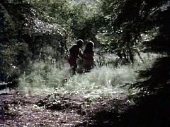Sex hungry cute couple enjoyed steamy sex in woods