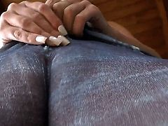 Hot chick Jada Stevens gets rammed and slammed in her tight camel toe vagina by a guy with a thick prick that shell be feeling it for days maybe even weeks.