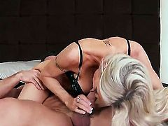 Emma Starr gets doinked real heavily while wearing red and black lingerie. She is a blonde milf but her cunt is still super tight even after getting banged a million times.