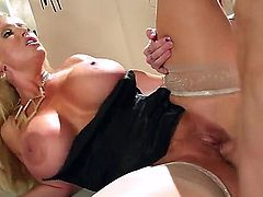 Her blonde milf ass is going to get rammed and slammed real well by this young guy with a thick and hard dick who just loves banging milfs every day.