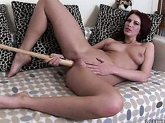 Redhead Stella Red and hard dicked fuck buddy satisfy their sexual desires together