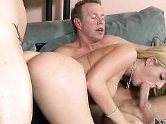 Kodi Gamble offers her totally fuckable mouth to hard dicked guy