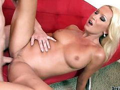Gorgeously sexy bombshell Diana Doll takes love stick in her fuck hole