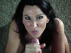 Lezley Zen a mom pov down on her knees. This handsome college stud takes out his long penis and makes her suck him off hard