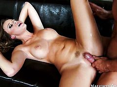 Johnny Castle drills hot bodied Alexis Adamss hole in every position