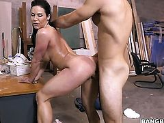 Kendra Lust has a cock inserted into her
