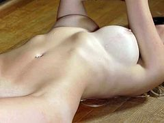 Visit official Playboy's HomepageTime for this sensual Playboy model to dazzle with her amazing tits and play with her shaved pussy in a sweet solo cam show