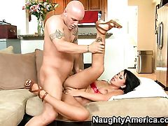 Asian Kayme Kai lets Derrick Pierce stick his love stick in her asshole