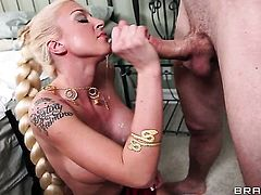 Leya Falcon with massive melons gets her cornholewildy ploughed by Jordan Ash