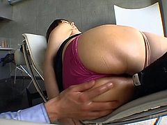 Big tittied milf Mayumi gets her pussy licked and finger fucked