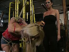 Blonde Bianka Lovely with big jugs gets unthinkable sexual pleasure with lesbian Mandy Bright